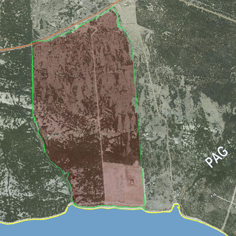 Land for sale Croatia Pag