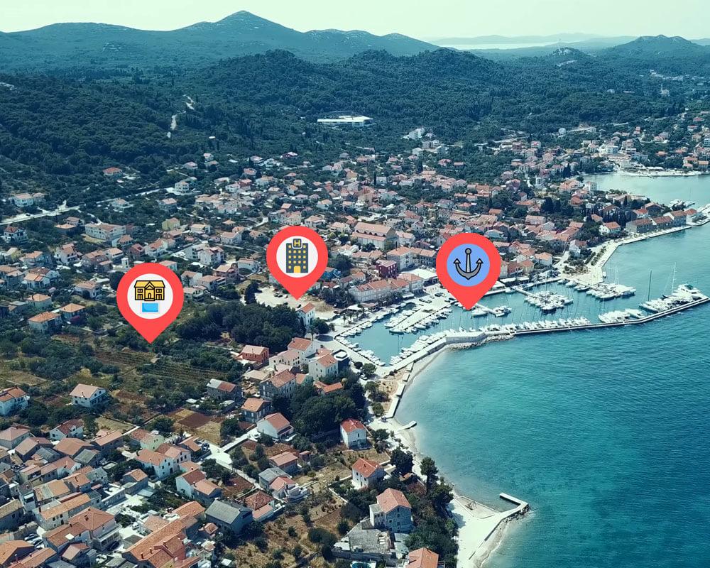 lokacije marina, hotel i ville