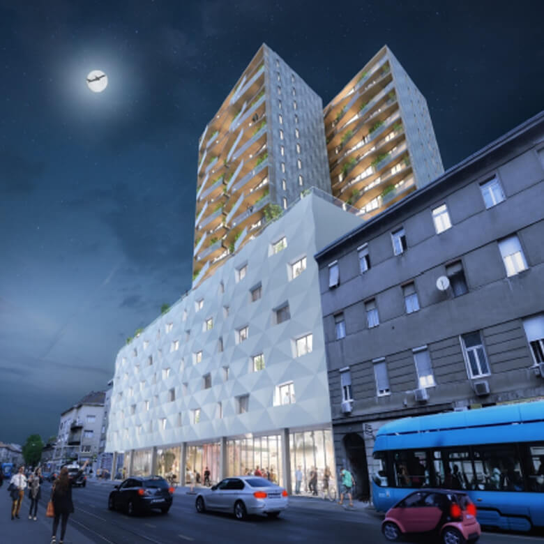 Real estate Building Hotel Project Zagreb